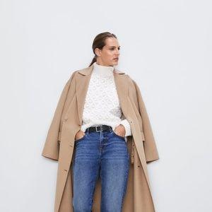 Zara Textured Knit Sweater in Ecru